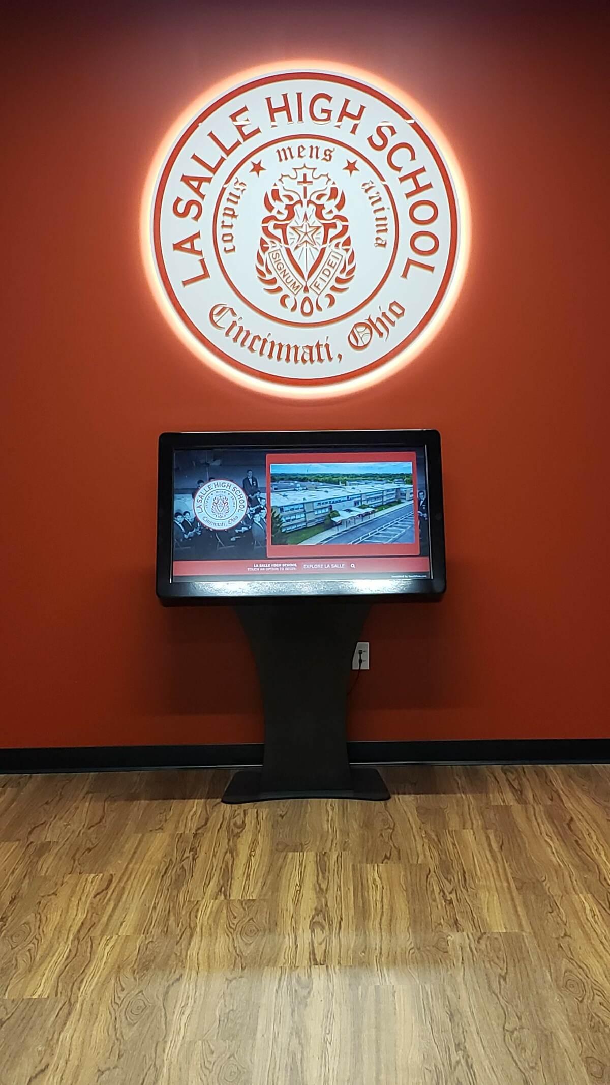 Kiosk in Alumni Heritage room